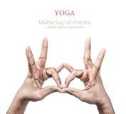 Geste de main de Mudra Photographie stock libre de droits