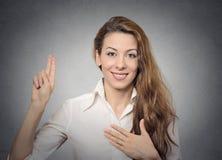 Geste de main de promesse Images libres de droits