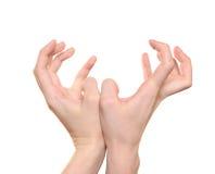 Geste de mains Image libre de droits