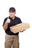 Geste de réussite de courier images stock