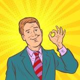 Geste en bon état homme d'affaires bien d'art de bruit illustration stock