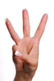 Geste numéro trois. Images libres de droits
