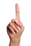 Geste numéro un. Image stock