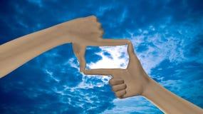 Geste rêveur de visibilité photos libres de droits