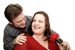 Geste romantique Photographie stock