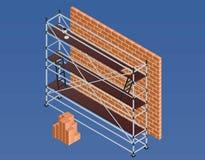 Gestellbacksteinmauerfahne, isometrische Art stock abbildung