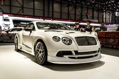 Gestemd Bentley Continental GT in Genève 2019 royalty-vrije stock foto's