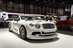 Gestemd Bentley Continental GT in Genève 2019 royalty-vrije stock fotografie