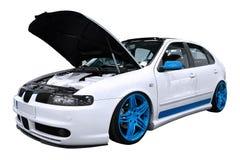 Gestemd Seat Leon met blauwe randen Royalty-vrije Stock Afbeeldingen