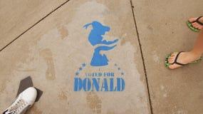 Gestemd voor Donald Stock Foto