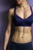 Atletische vrouwelijke abs Stock Foto's