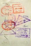 Gestempeld Paspoort Stock Afbeeldingen
