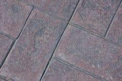 Gestempelde cementbakstenen Stock Foto's