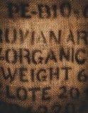 Gestempeltes organisches des groben Sackzeugs Gewebe Stockbild