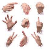 Gesten der Hände Stockbilder