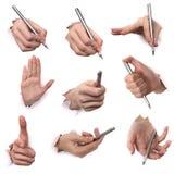 Gesten der Hände Lizenzfreies Stockfoto