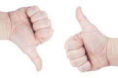 Gesten von Händen Lokalisiert auf weißem Hintergrund, Ð-¡ Liping-Weg Stockfotos