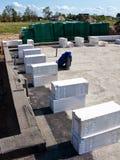 Gesteriliseerde met autoclaaf geluchte concrete blokken Stock Foto