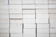 Gesteriliseerde met autoclaaf het wit luchtte lichtgewicht concrete blokstapel royalty-vrije stock foto