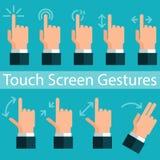 Gestes d'écran tactile Photographie stock libre de droits