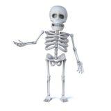 gestes 3d squelettiques vers sa droite illustration libre de droits