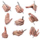 Gestes des mains Photo libre de droits