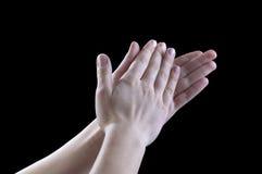 Gestes des mains, applaudissements Photographie stock libre de droits