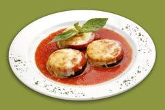 Gesteunde aubergine. Royalty-vrije Stock Foto's