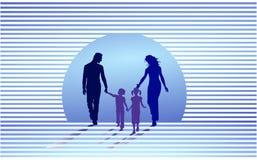 gesteunde familie royalty-vrije illustratie