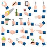 gesthandsymbolen tumm upp Arkivfoto
