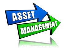 Gestión de activos en flechas Fotografía de archivo libre de regalías
