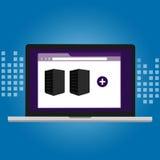 Gestión de la infraestructura informática del software de la virtualización del servidor stock de ilustración