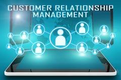 Gestión de la relación del cliente stock de ilustración