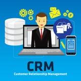 Gestión de la relación del cliente de Crm Imagenes de archivo
