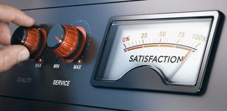 Gestión de la relación del cliente, la mejor experiencia del cliente stock de ilustración