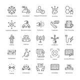 Gestión de negocio y línea iconos 41 del vector del crecimiento stock de ilustración