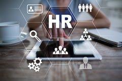 Gestión de recursos humanos, hora, reclutamiento, dirección y el teambuilding Fotos de archivo