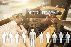 Gestión de recursos humanos, hora, reclutamiento, dirección y el teambuilding Imagen de archivo libre de regalías