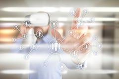 Gestión de recursos humanos, hora, reclutamiento, dirección y el teambuilding Concepto del negocio y de la tecnología Imagen de archivo libre de regalías