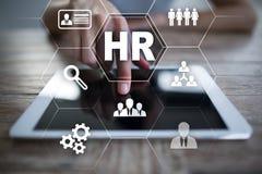 Gestión de recursos humanos, hora, reclutamiento y el teambuilding Concepto del asunto Foto de archivo libre de regalías