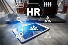 Gestión de recursos humanos, hora, reclutamiento y el teambuilding Concepto del asunto Fotografía de archivo