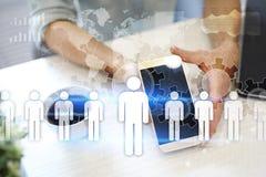 Gestión de recursos humanos de la hora Reclutamiento, empleando, Team Building Estructura de organización fotografía de archivo libre de regalías