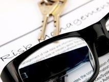 Gestión de riesgos foto de archivo libre de regalías