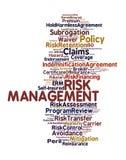 Gestión de riesgos Foto de archivo