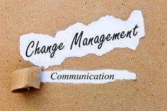 Gestión del cambio - comunicación - estrategias acertadas para la gestión del cambio foto de archivo libre de regalías