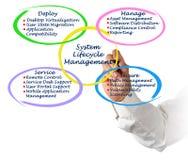 Gestión del ciclo vital del sistema Fotos de archivo libres de regalías