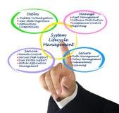 Gestión del ciclo vital del sistema Imagen de archivo libre de regalías