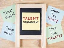 Gestión 5 del talento imágenes de archivo libres de regalías
