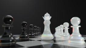 Gestión en ajedrez Imagen de archivo libre de regalías