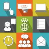 Gestión, personas del negocio y gente de la oficina Icono plano del vector Imágenes de archivo libres de regalías